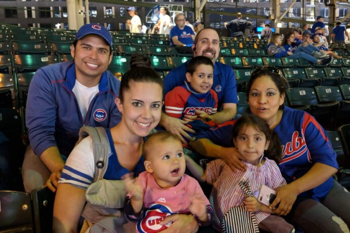 MOLA member Dr. Julio Arnau and family at Chicago Cubs