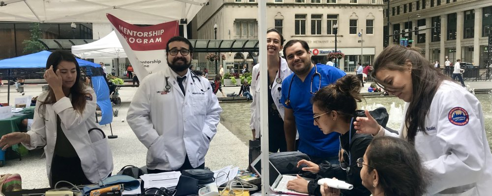 Public health event Hispanic Heritage Daley Plaza / Asthma Screening